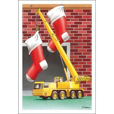 Crane Lifts Stockings