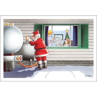 Santa's Filling The Fuel Tank