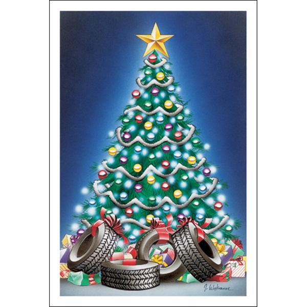 Tires Around The Christmas Tree