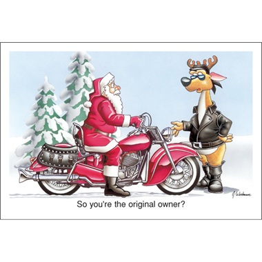 Santa Selling His Motorcycle