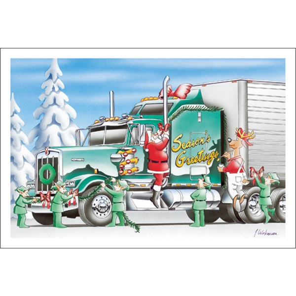 Green Truck Decorated