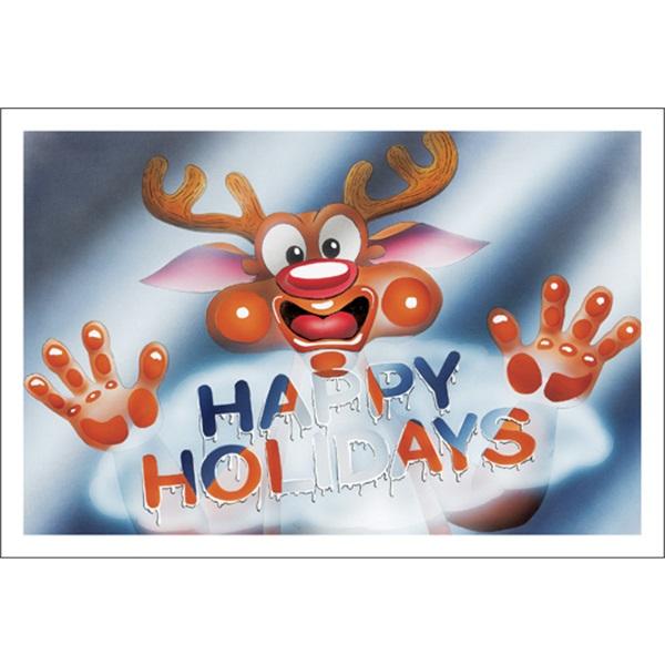 Happy Holidays Foggy Window