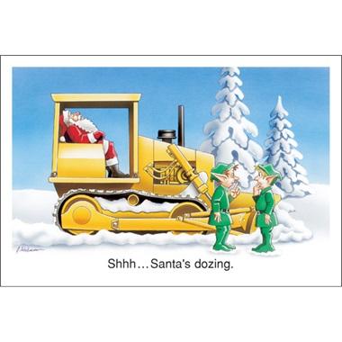 Shhh… Santa's Dozing