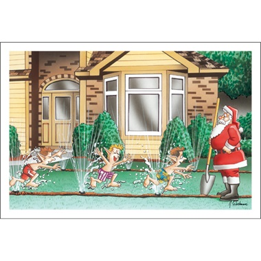 Elves Love Playing In The Sprinklers