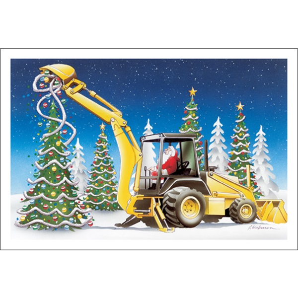 Backhoe Tree Decorations
