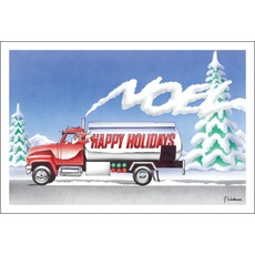 Happy Holidays Fuel Oil Truck