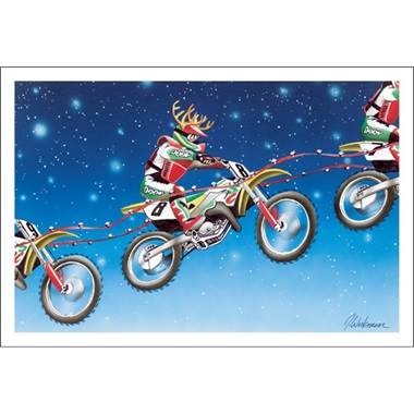 Santa's Reindeer Catching Air