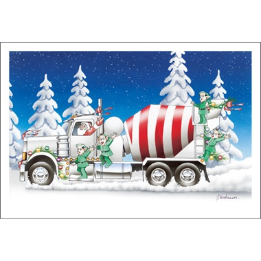 Red And White Cement Truck