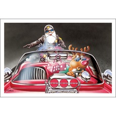 Pullover Says Motorcycle Cop To Red Nose Reindeer