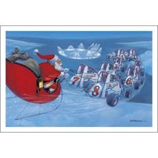 Sprint Cars Flying Santa's Sleigh