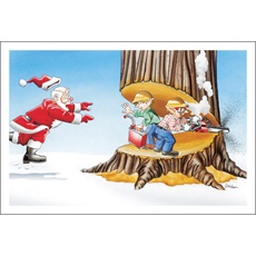 Elves Cutting Down Tree