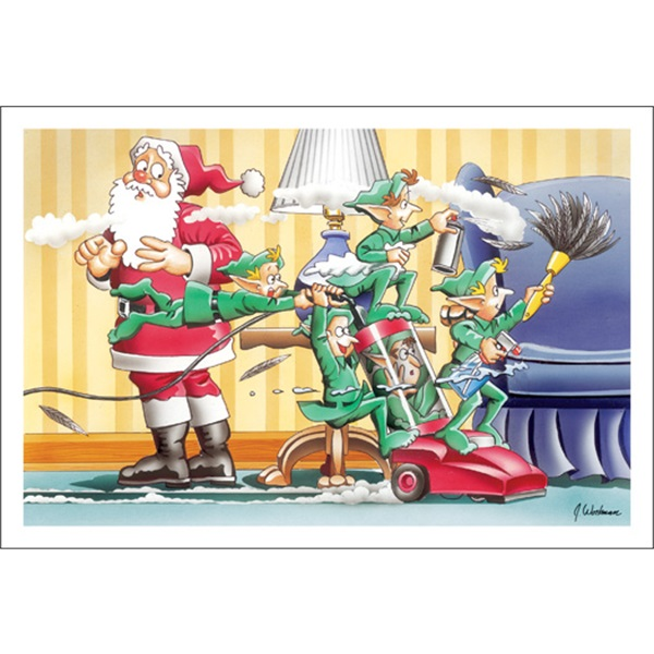 Elves Love To Clean House
