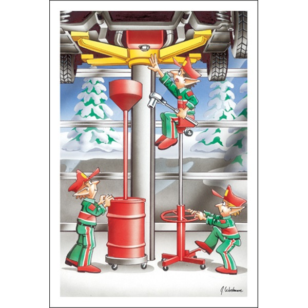 Elves Doing Oil Change