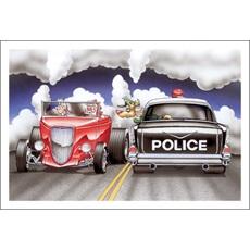 Reindeer Police Give Santa Dirty Look