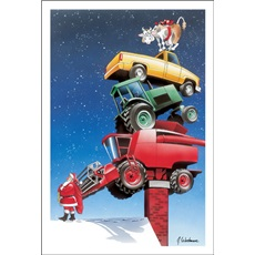 Farm Equipment And A Cow For Chistmas