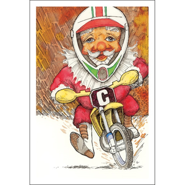 Santa On Dirt Bike