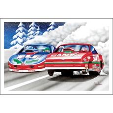 Santa In Funny Car Drag Racing Elf