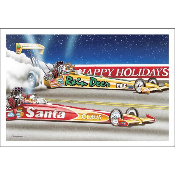 Dead Heat Between Santa And Reindeer