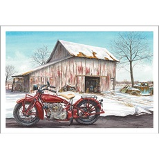 Motorcycle By The Farm