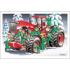 Elves Servicing Red Tractor