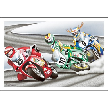 GP Bike Racing Santa