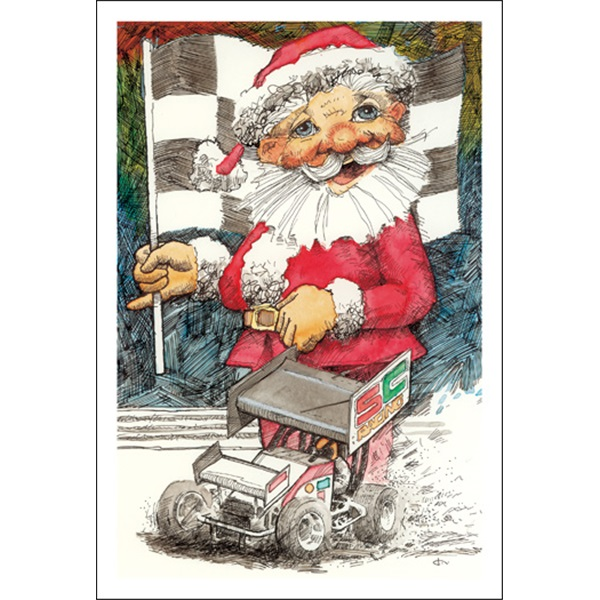 Sprint Car And Claus