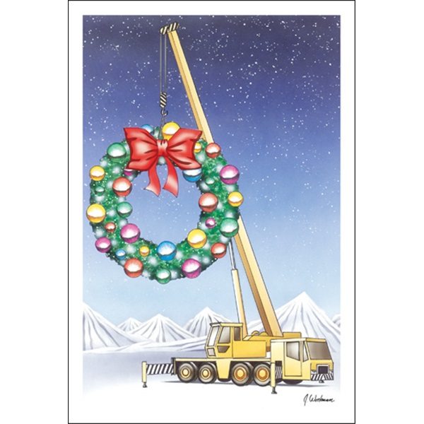 Crane Hanging Wreath