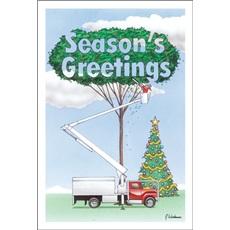 Season's Greetings Cut Into The Tree