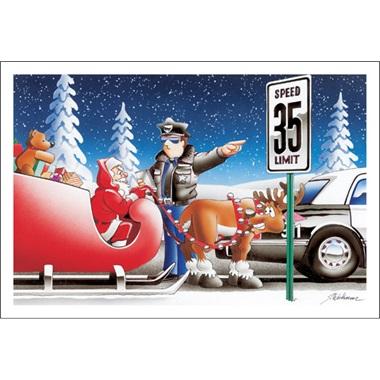 """Policeman Pulls Over Santa """"You Were Speeding"""""""