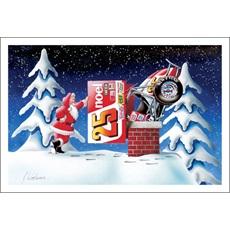 Santa Puts Sprint Car Down Chimney