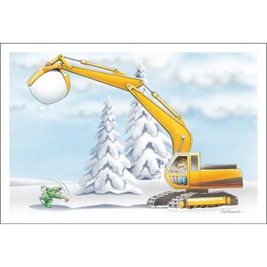 Excavator Snowball Fight