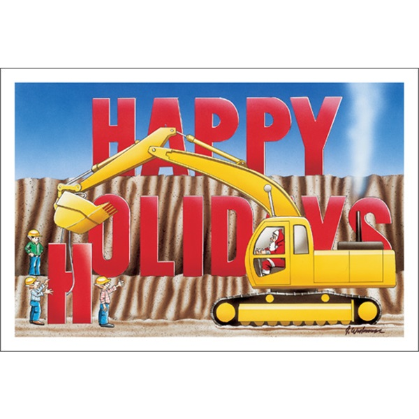 Happy Holidays Excavator