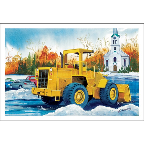 Loader Plowing The Snow