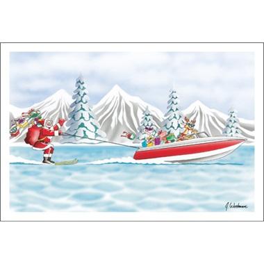 Santa Likes To Water Ski