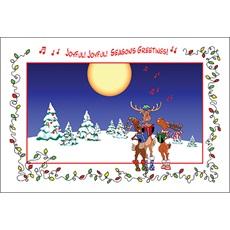 Reindeer Sing In Snow