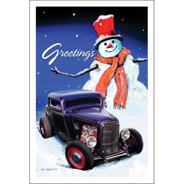 Greetings From The Snowman And Black Street Rod