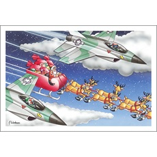 Fighter Jets Escort Santa