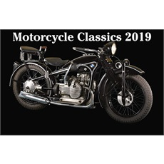 Classic Motorcycles 2019 Calendar