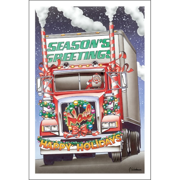 """Season's Greetings, Noel And Happy Holidays Truck"