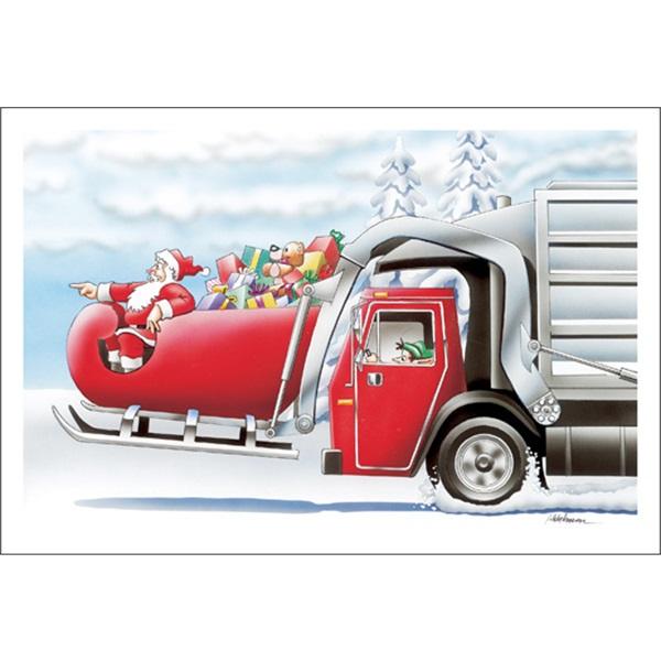 Garbage Truck Delivers Santa