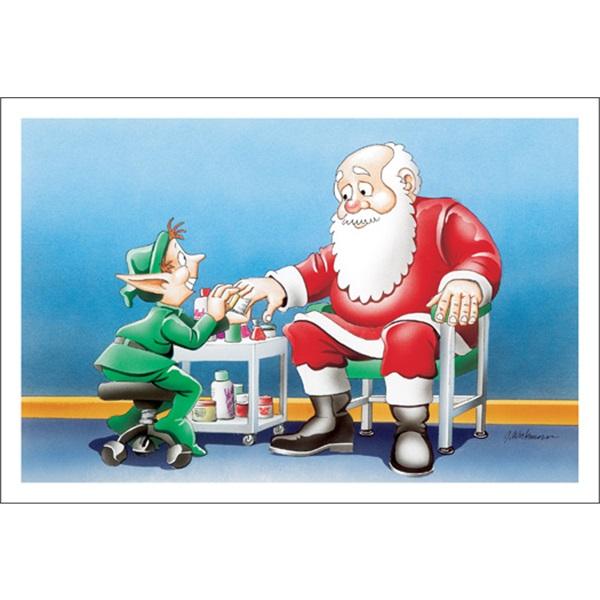 Santa At The Nail Salon