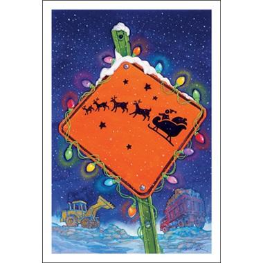 Santa Crossing Sign