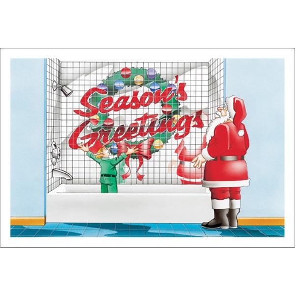 Season's Greetings Bathroom Tile