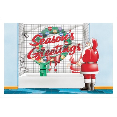 Season's Greetings Bathroom Tile