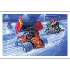 Sprint Cars Kicking It Up In The Snow