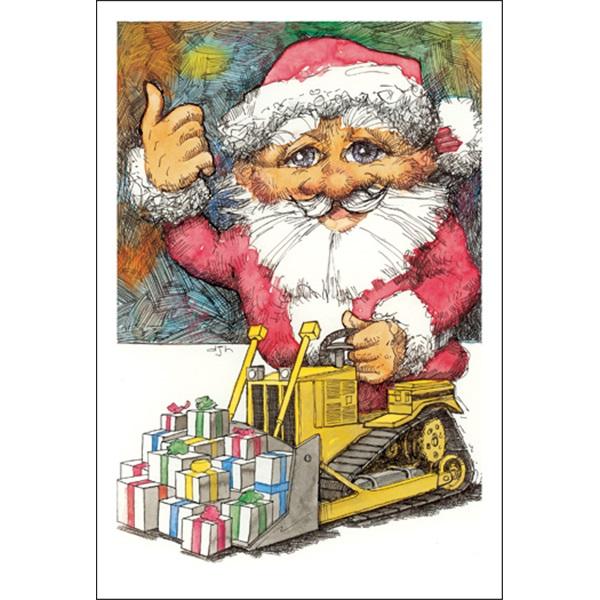 Bulldozing Santa