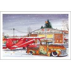 snow angles flying service - Airplane Christmas Cards