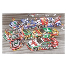 Stock Cars Wreck And Presents Fly