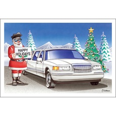Happy Holidays Santa Limo Driver