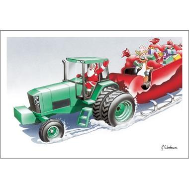 Tractor Pulls Sleigh